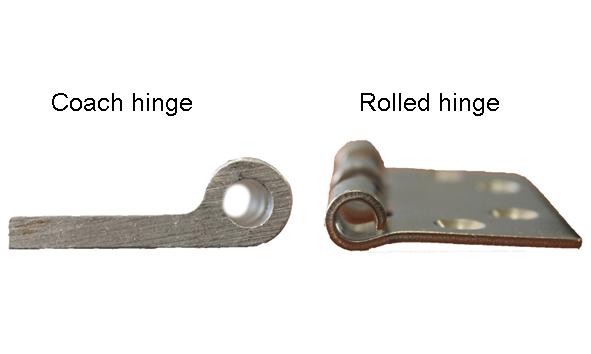 Coach hinge - rolled hinge