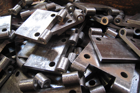 Hinge leaves with holes